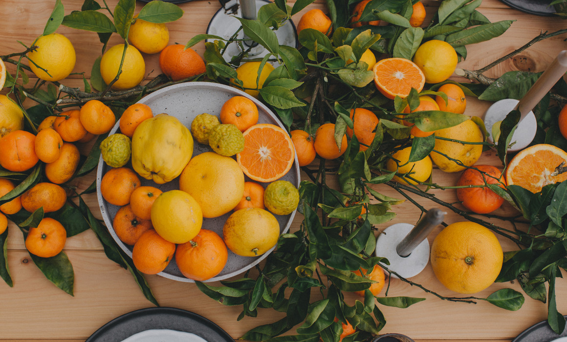 Categories: Food + Drink, Inspiration-Together Styles: The Citrus Table Top