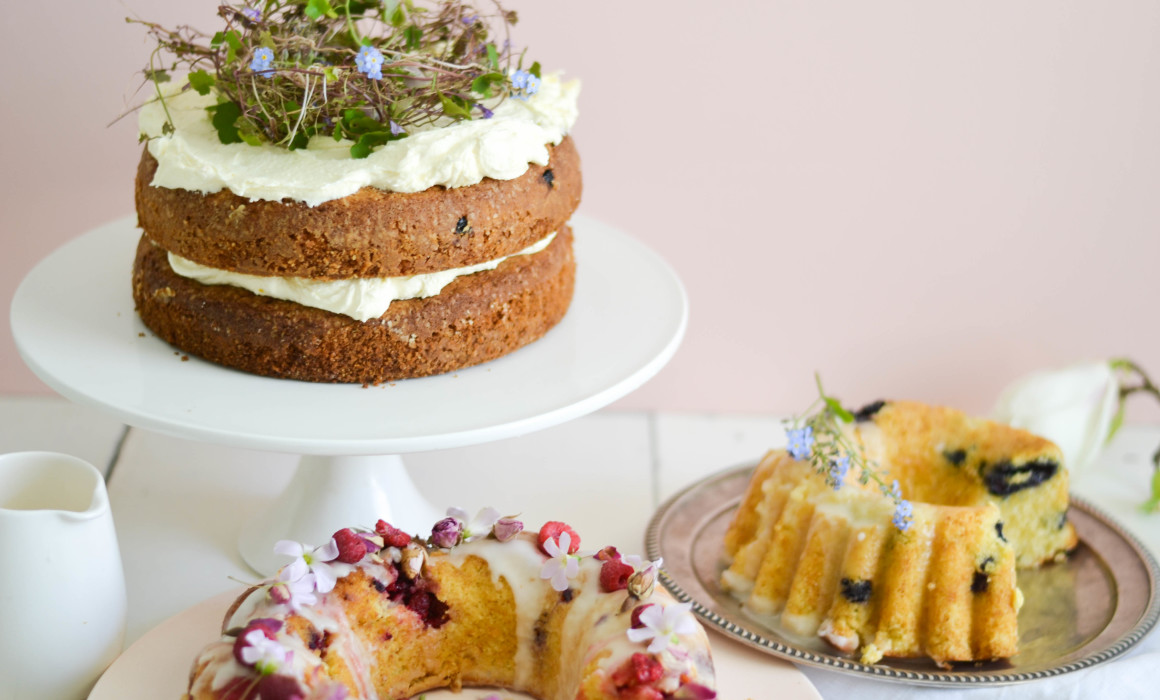 Categories: Food + Drink-A Trio of Lemon Butter & Raspberry Wedding Cakes