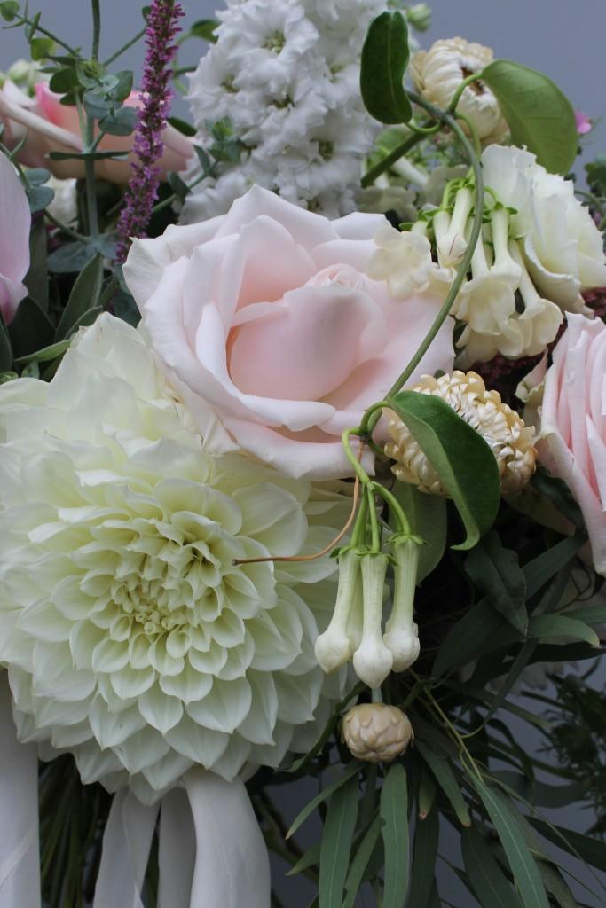 close up kate's wedding bouquet Floral Stylist Auckland
