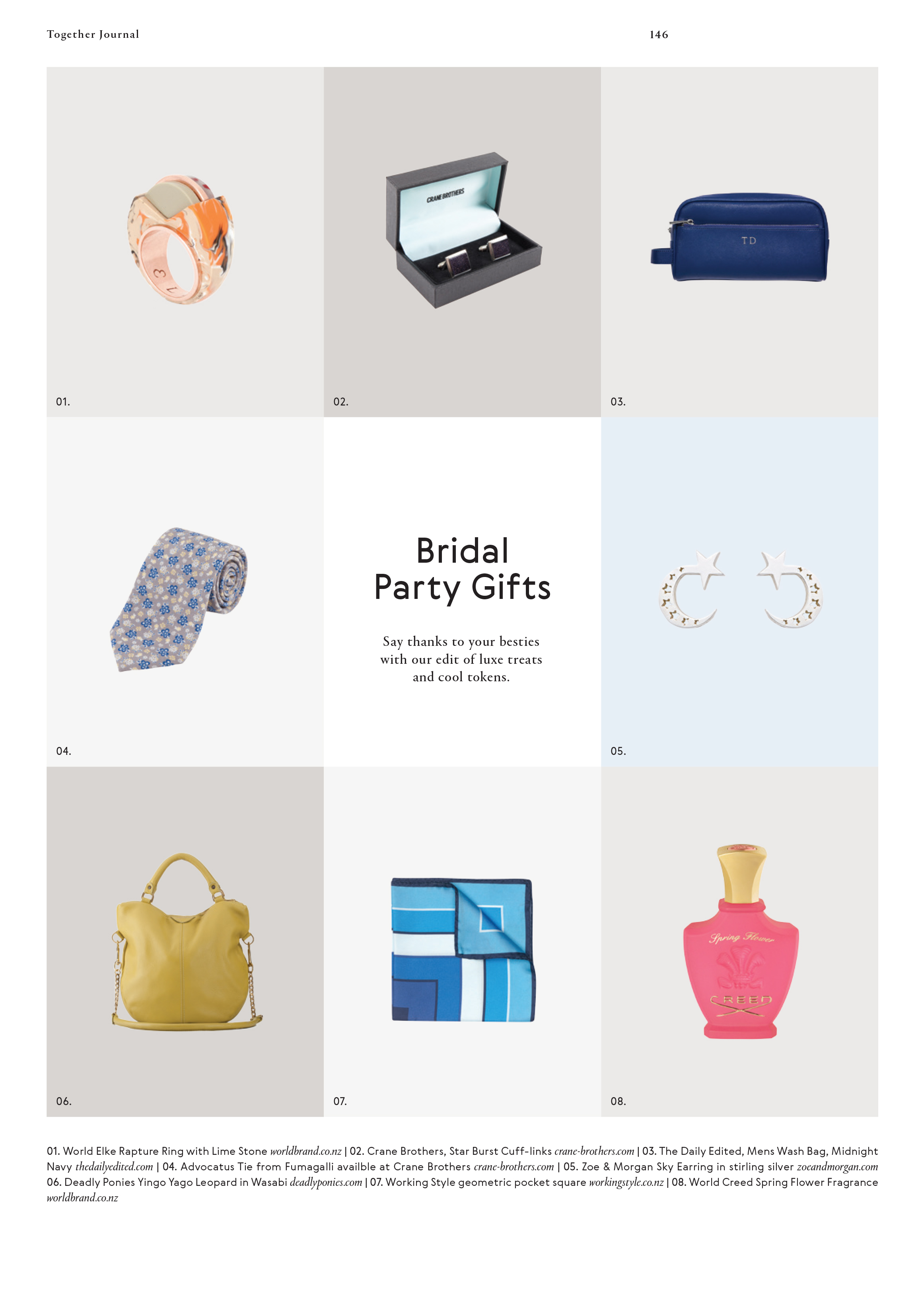 Categories: Inspiration-Bridal Party Gifts - Issue 6