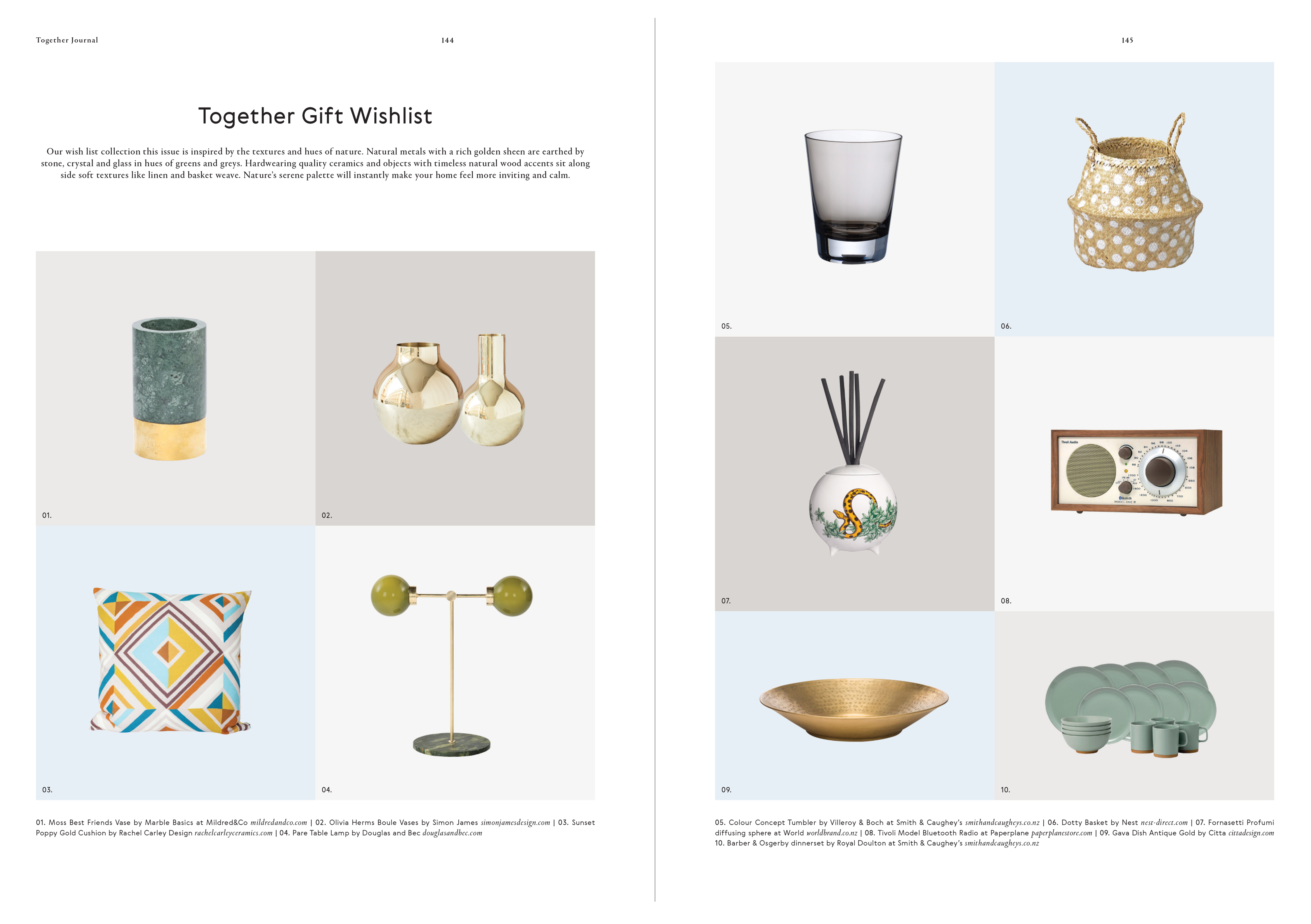 Categories: Weddings-Together Gift Wishlist Issue 6