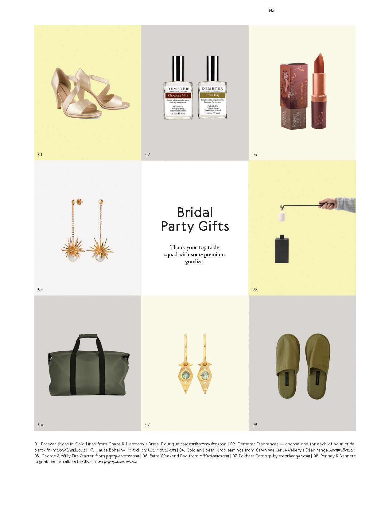 Categories: Inspiration-Bridal party gifts Issue 11