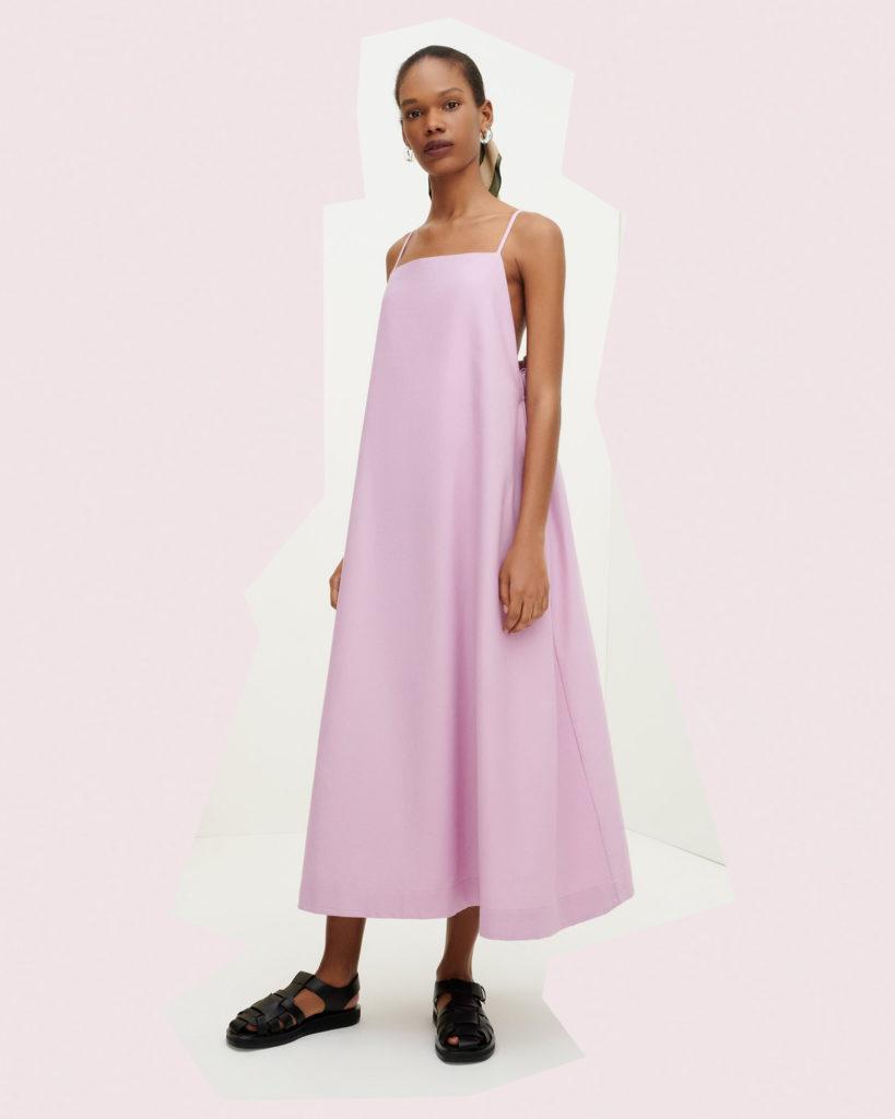 kowtow pink florence dress