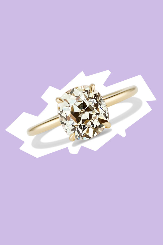 Cushla Whiting celine antique old mine cut ring valentines day gifts love