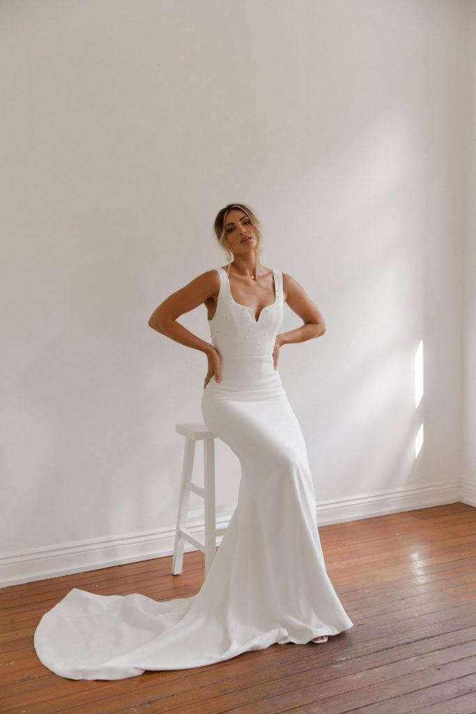 Paloma James Bridal bride and winter