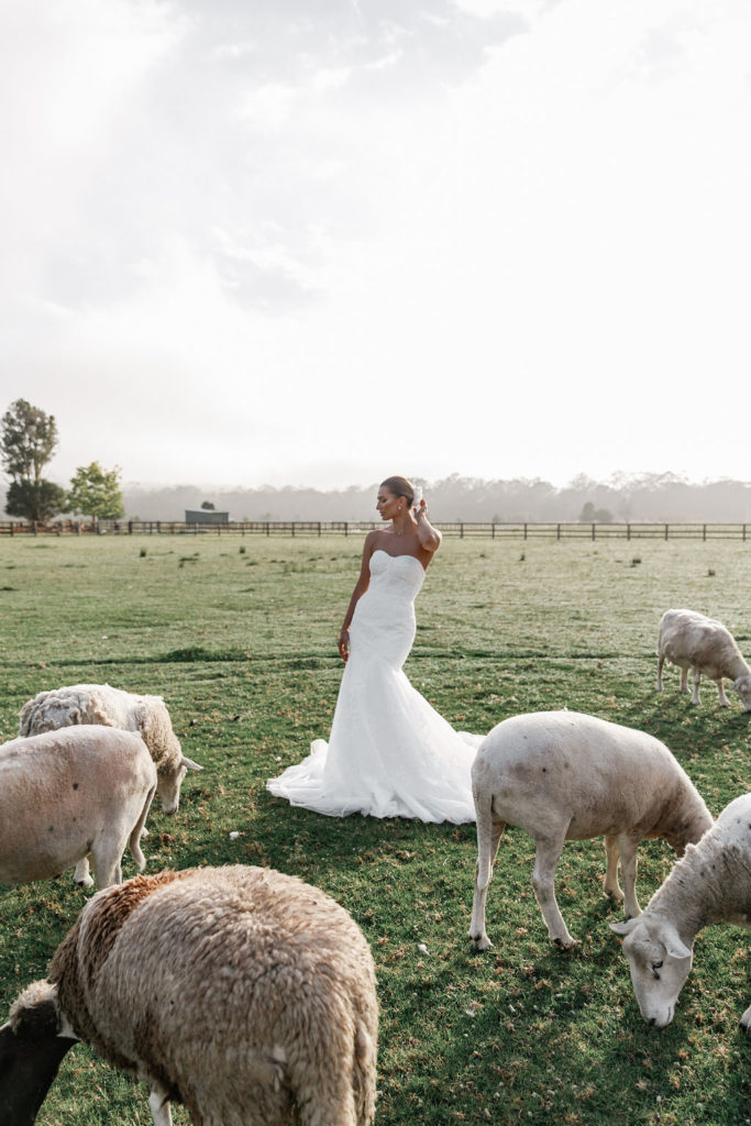 Paloma James with the tide bridal collection