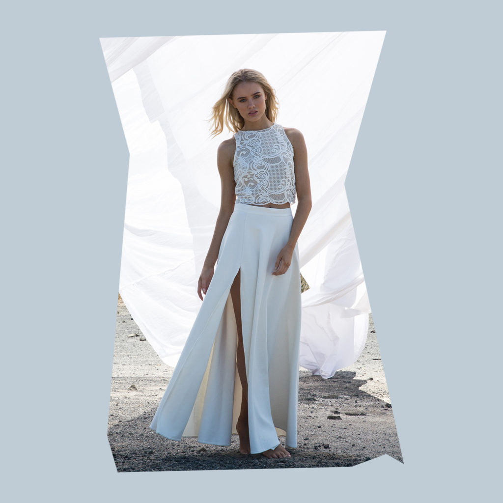 bride & winter my love tank and bliss skirt