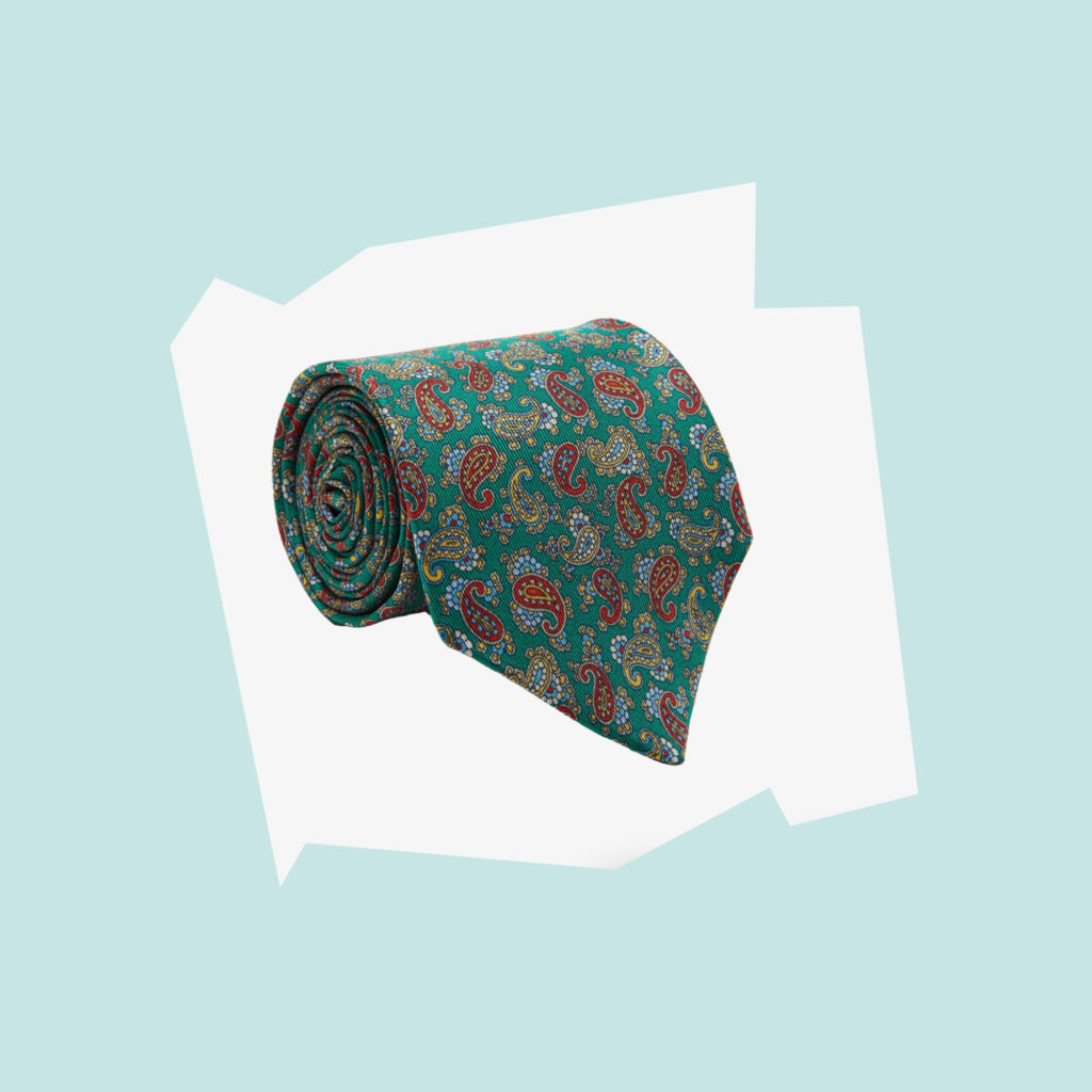 barkers Parisian Paisley Silk Tie