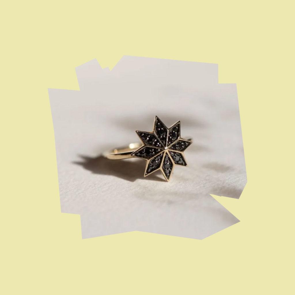 zoe and morgan lakshmi black diamond ring