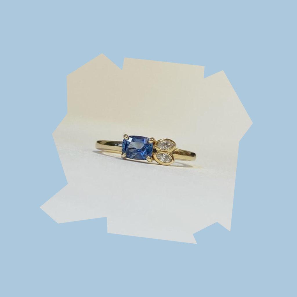 zoe porter jewellery sapphire petal ring