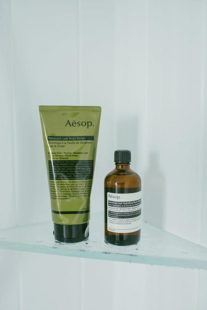aesop geranium leaf body scrub treatment