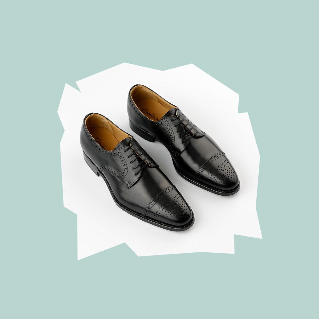 oscar hunt black brogue shoes