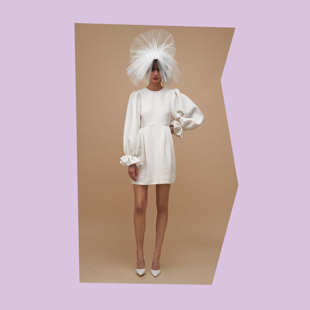 karen walker bliss short wedding dress